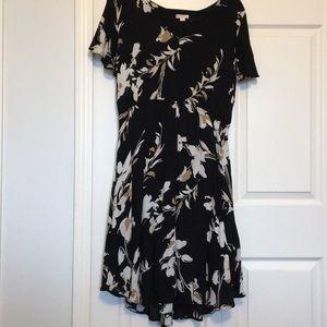 Black, White, and Beige target midi dress